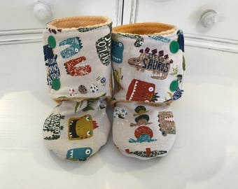 Baby Booties, size 12-18 months