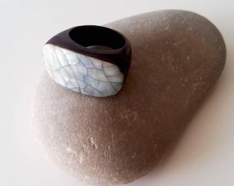 Wooden ring, vintage ring, woomen ring, bohemian ring, wooden vintage ring, wood ring, art deco ring, women gift, brown ring, simple ring