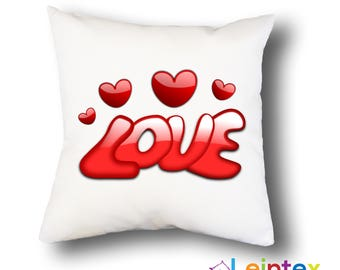 Pillowcase 40x40 pillow love heart No7