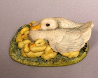 Vintage Collectible Curio Duck by Border Fine Arts