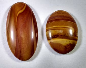 Oval-shaped Banded Agate Cabochon, Banded Agate Cabochon, Folded Siltstone Cabochon, Oval-shaped Cabochon, Folded Siltstone, Cabochon