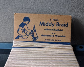 Vintage Middy Braid A Thomas Holmes Product Washable Rayon and Cotton