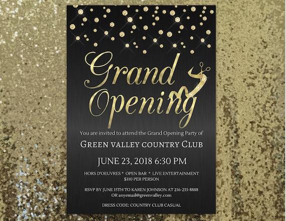 grand opening invitation company invitation office invitation