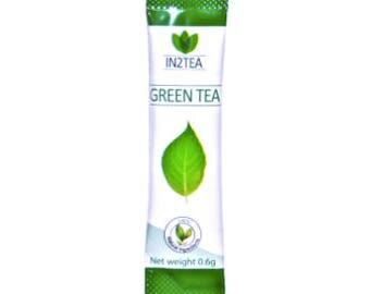 Green tea - Certified organic, instant and delicious tea extract crystal sachets