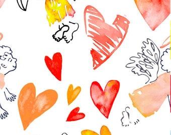 Removable wallpaper/Wallpaper/Peel and Stick/Self adhesive wallpaper/Modern Wallpaper /Love patern S115