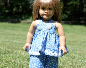 18 inch Doll Yellow Poppy Outfit