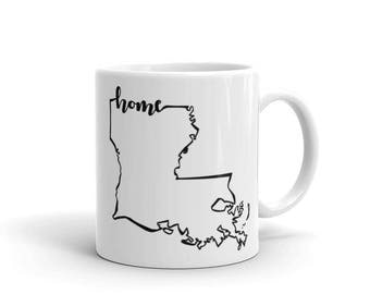 Louisiana Home State - Coffee Mug
