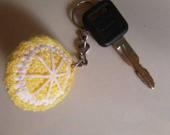 Crochet Lemon Half Keychain