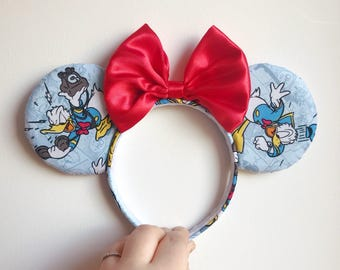 Donald Duck, Mickey and Minnie Mouse, Classic Disney Character Ears Headband