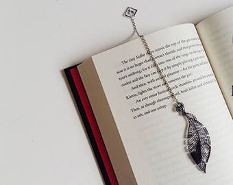 Feather Rise bookmark BLACK