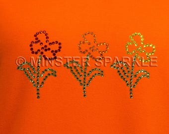 Sparkly Flowers Embellished Top