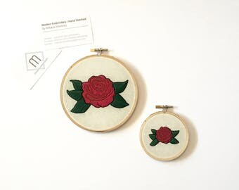 Hand Embroidered Rose