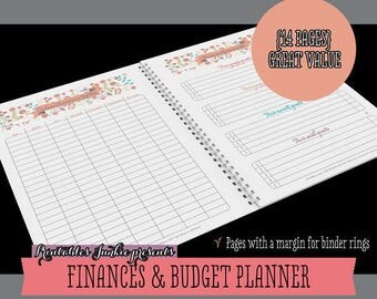 printable budget planner pack printable bill tracker printable bill organizer pdf printable finance - Bills Organizer