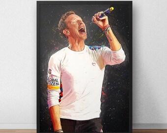 Chris Martin - Chris Martin Poster - Chris Martin Print - Coldplay - Coldplay Poster - Music Poster - Music Art - Music Gifts
