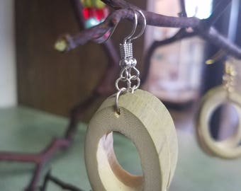 Organically grown bamboo earings