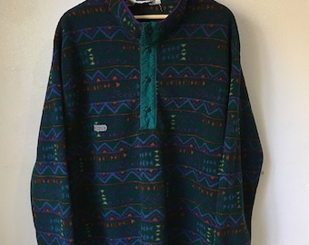Vintage Columbia 1/4 button up fleece pullover XL pattern