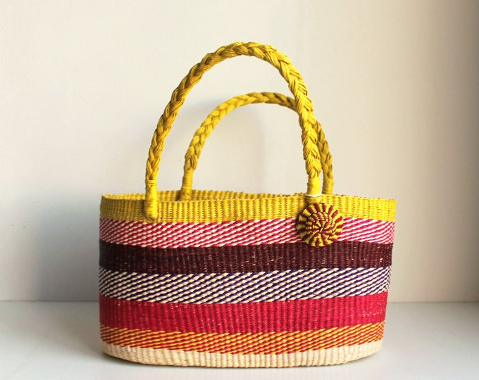 MULTICOLOR STRAW BAG