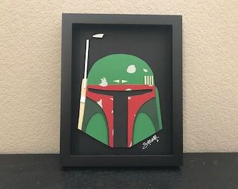 boba fett STAR WARS 3D paper art