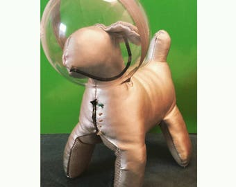Art Toy Sculpture textile House dog in space