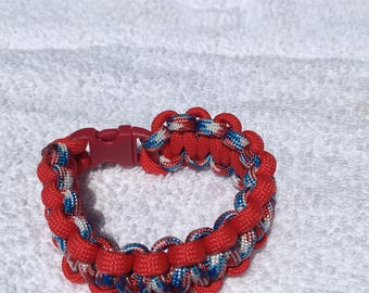 Red White and Blue Paracord Bracelet
