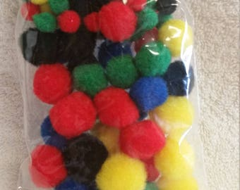 Great Value Lot of Various Sized/Colored Pom Pom for Craft Supplies, 144 pcs