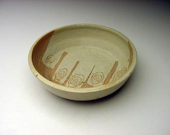 Very Rare Harue Oyama McVay Decorated Mid-Century Studio Pottery Bowl hawaii