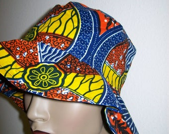 Cotton Print Bucket Hat for Adults and Children/ Women's Sun Hat/ African Sun Hat/ African Floppy Hat/ Beach Hats