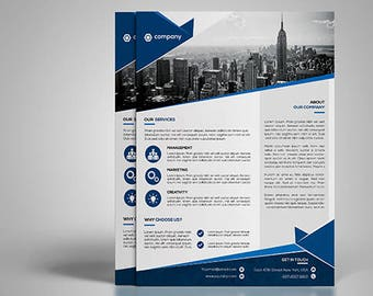 Corporate Flyer Template | Printable Marketing Flyer PSD