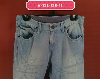 Vintage Levis 519 Jeans Levis Premium Pants Skinny Hipster Style Blue Colour Size 30 Comme des Garcon Pants Issey Miyake Pants Levis Big E