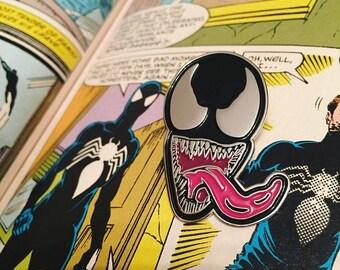 VENOM Enamel Pin - Retro Amazing Spiderman Marvel Villian
