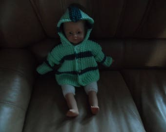Coat with hood, two colors size 1 month