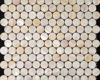 white mother of pearl tile kitchen backsplash penny round shell mosaic bathroom wall tiles 11 sq