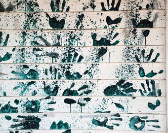 Handprints on a House