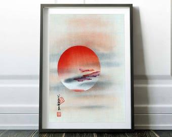 Japanese art print / Asian art print poster / Japanese drawing / Japanese painting / Asian drawing / Asian art painting / Japanese art deco