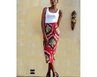 HOUSE OF UYAI Printed Midi Pencil Skirt