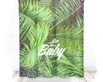 Shower curtain / shower curtain 150cm Palm II.