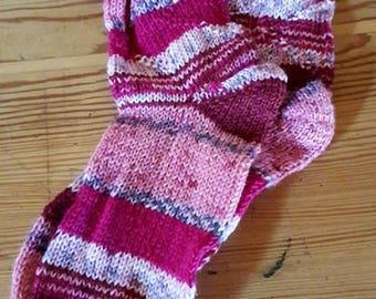 Hand-knitted children socks size 28/29