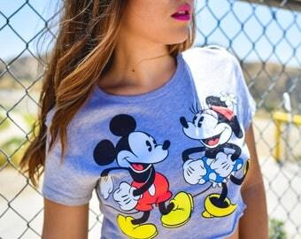 Trendy Grey Disney Crop Top