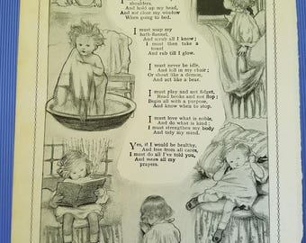 What Every Wise Child Should Do Illustration Antique