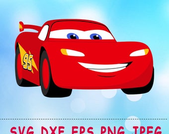 Mcqueen Etsy - Lightning mcqueen custom vinyl decals for car