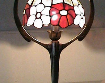 Stained glass tiffany style lamp