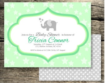 Baby Shower Invitation PRINTED AND DELIVERED - 5x7in/ Many colours available/ Printable/ Baby Shower Invitation/Baby Shower Invitation