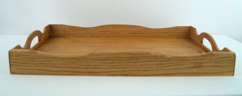 Serving Tray Coffee Table Tray Oak Wooden Tray Decorative Tray