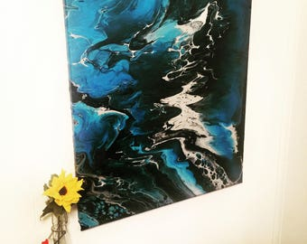 Free Shipping for Abstract Painting. Wall Art, Fine Art, Dramatic Art, Wavy Painting, Living Room Decoration, Gift, Birthday, Summer