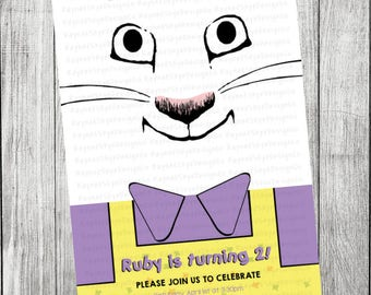 Max and Ruby Inspired Invitation