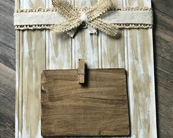Grey Square Rustic Photo Frame