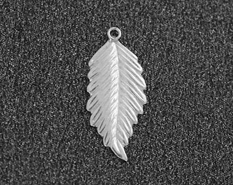 Sterling silver leaf etsy sterling silver leaf charm 925 sterling silver leaf pendant silver leaf silver leaf mozeypictures