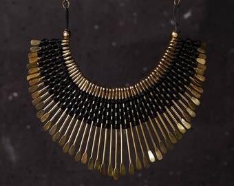 Boho Necklace, Bib Necklace, Cascade Necklace, Cleopatra Necklace