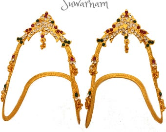 Beautiful Baju Bandh/Armlet/Vanki - Indian Jewellery / Wedding Jewelry / Arm Cuff / Upper arm cuff