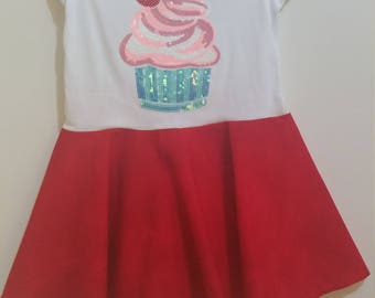 Size 2 Sequined S/S Cupcake Dress